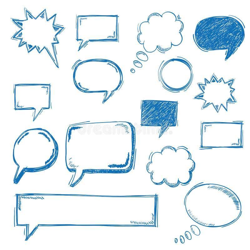Пузыри речи Oldschool иллюстрация вектора