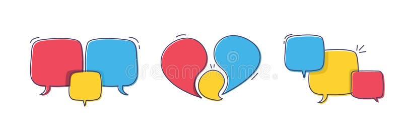 Пузыри ультрамодной руки вычерченные абстрактные геометрические Знамя doodle вектора установило для вашего текста с различными цв бесплатная иллюстрация
