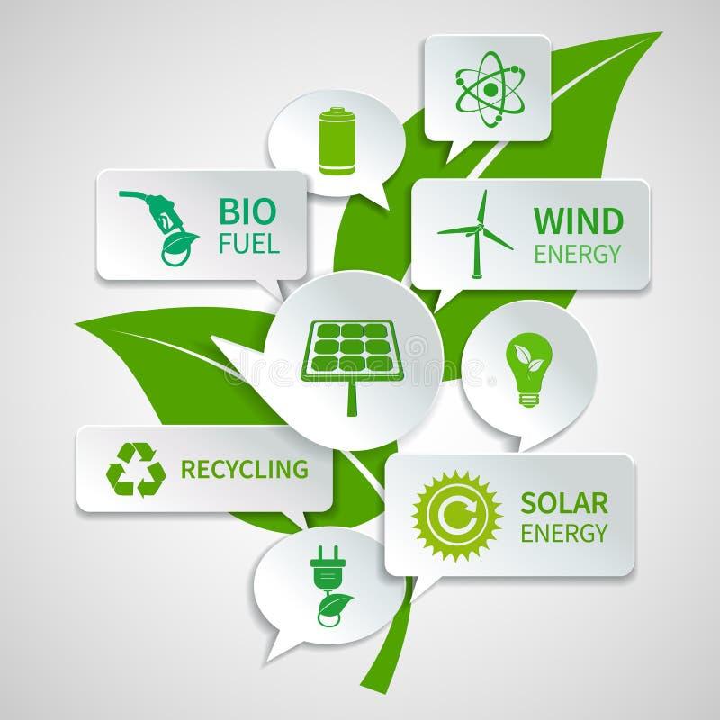 Download Пузыри экологичности бумажные Иллюстрация вектора - иллюстрации насчитывающей план, природа: 40586138