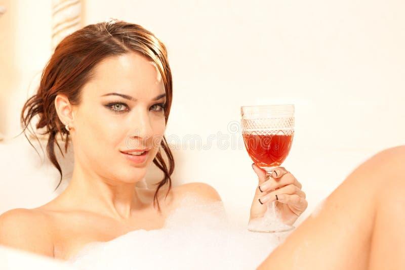 пузырь ванны ослабляя стоковое фото
