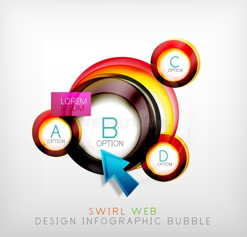 Download Пузырь веб-дизайна свирли Infographic - плоская концепция Иллюстрация вектора - иллюстрации насчитывающей самомоднейше, рекламирует: 40577313