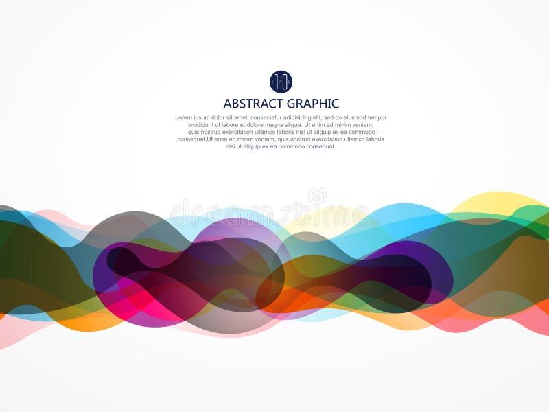 Пузырь любит абстрактный графический дизайн иллюстрация вектора