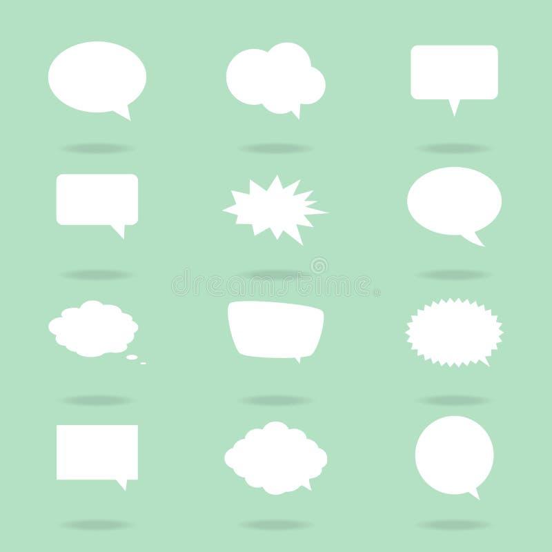 Пузырь речи беседы иллюстрация штока