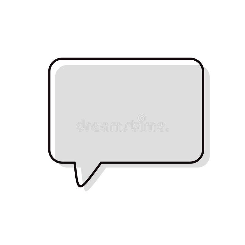 Пузырь речи, воздушный шар речи, пузырь болтовни иллюстрация вектора