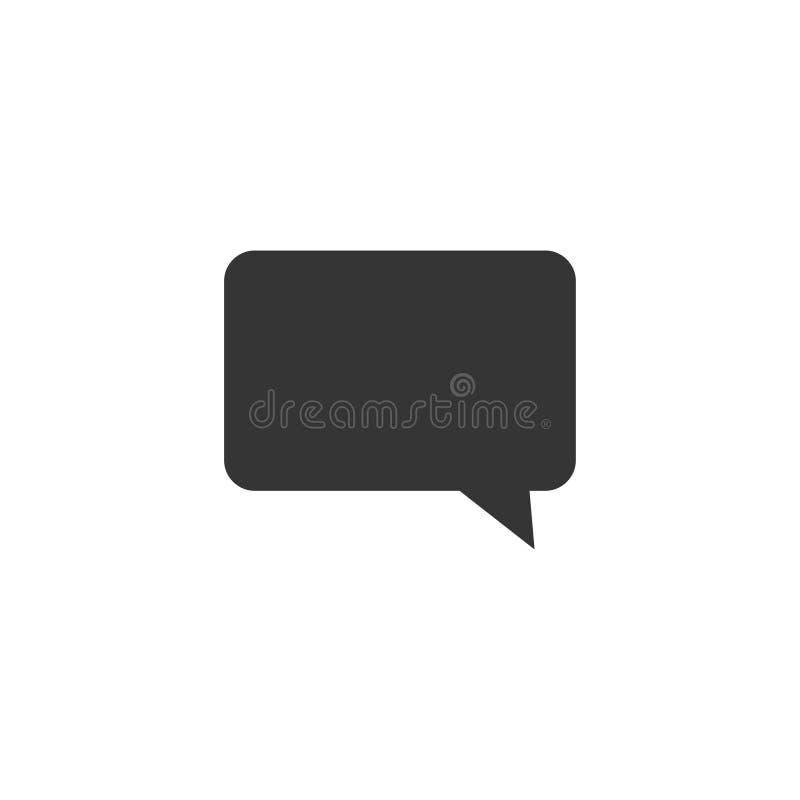 Пузырь речи, воздушный шар речи, значок вектора пузыря болтовни для приложений и вебсайты иллюстрация вектора