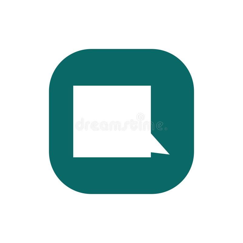 Пузырь речи, воздушный шар речи, значок вектора пузыря болтовни для приложений и вебсайты иллюстрация штока