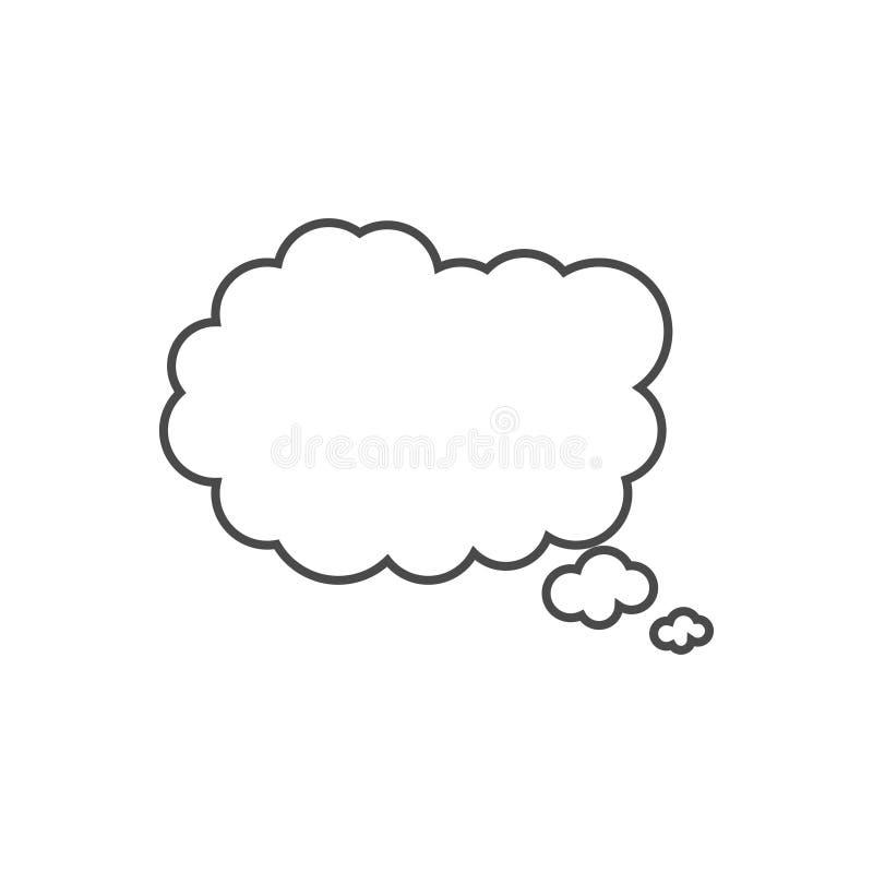 Пузырь речи, воздушный шар речи, линия значок пузыря болтовни вектора искусства для приложений и вебсайты бесплатная иллюстрация