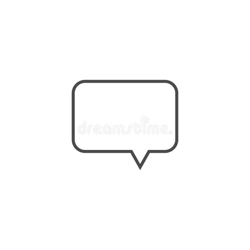 Пузырь речи, воздушный шар речи, линия значок пузыря болтовни вектора искусства для приложений и вебсайты иллюстрация вектора