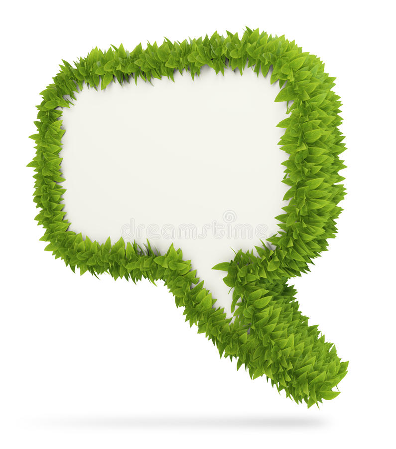 Пузырь речи листьев 3D бесплатная иллюстрация
