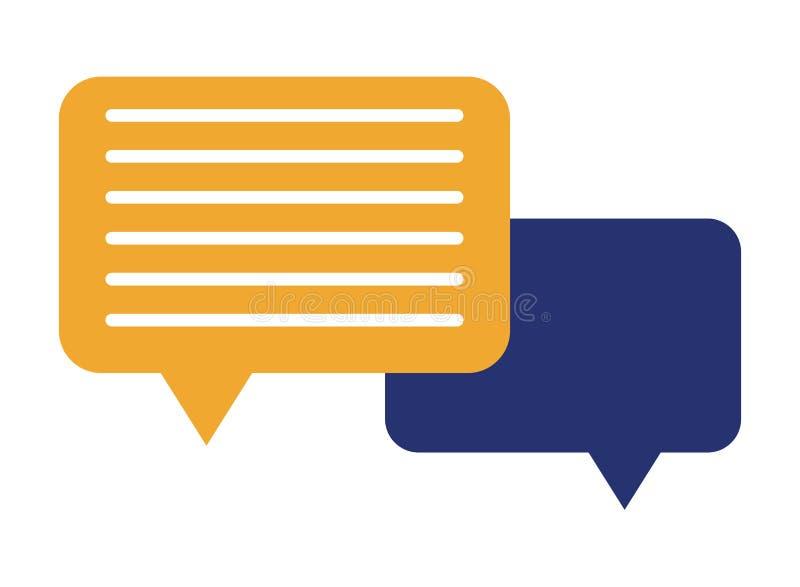 Пузырь речи с линиями значком иллюстрация штока