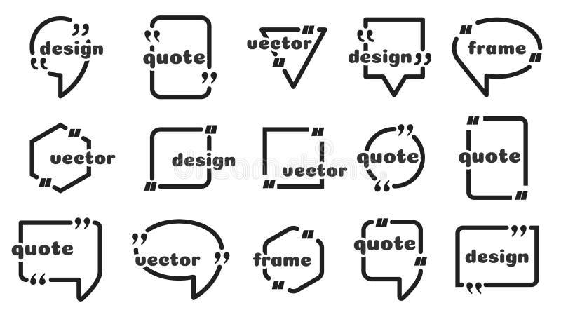 Пузырь с текстом и цитатой бесплатная иллюстрация