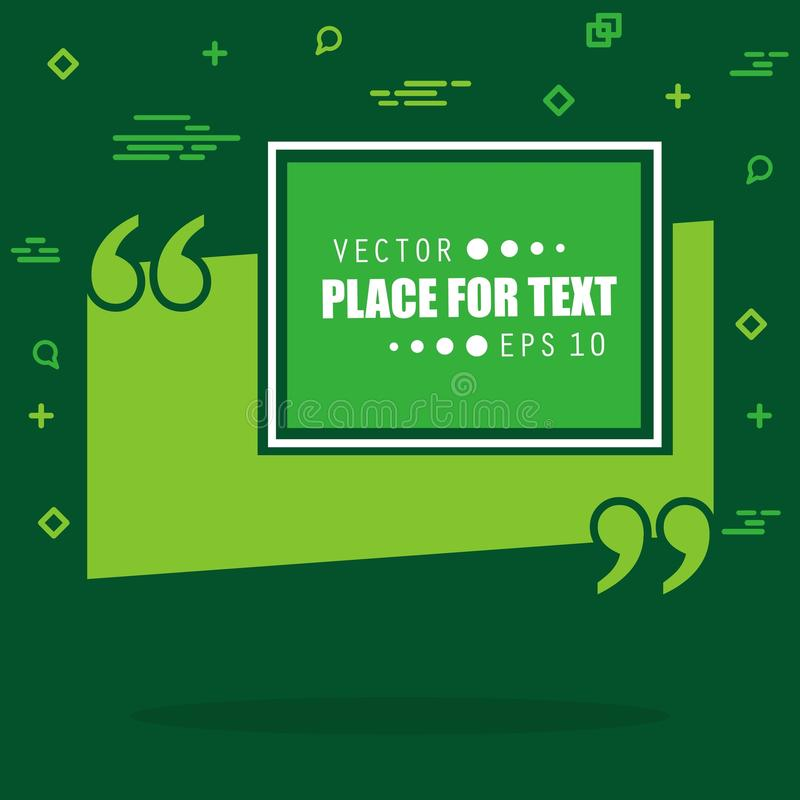 Пузырь текста цитаты квадрата речи абстрактного вектора концепции пустой Для сети и передвижного app изолированных на предпосылке бесплатная иллюстрация