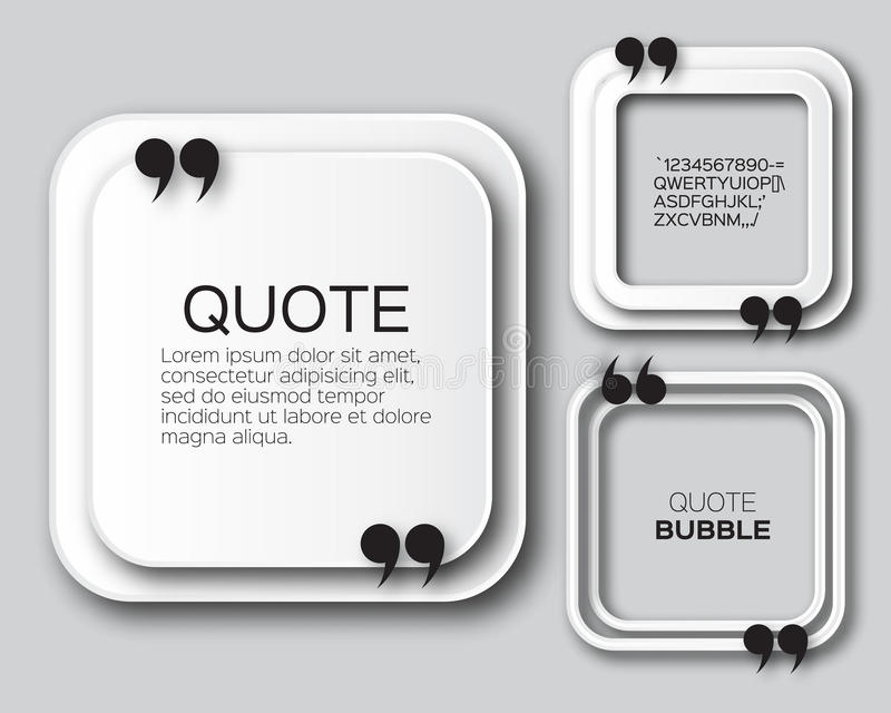 Пузырь цитаты квадрата Origami иллюстрация вектора