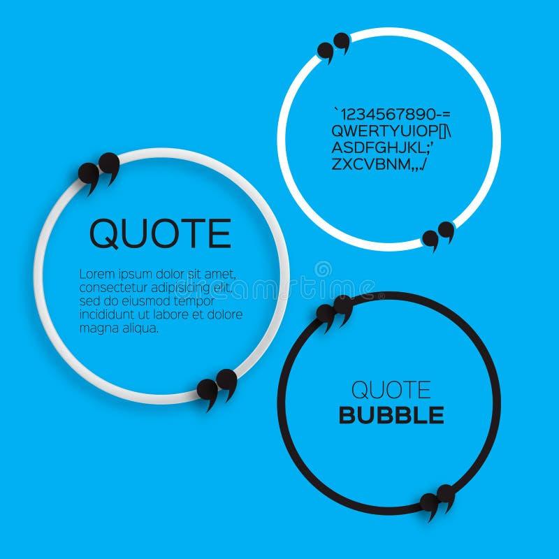 Пузырь цитаты иллюстрация штока