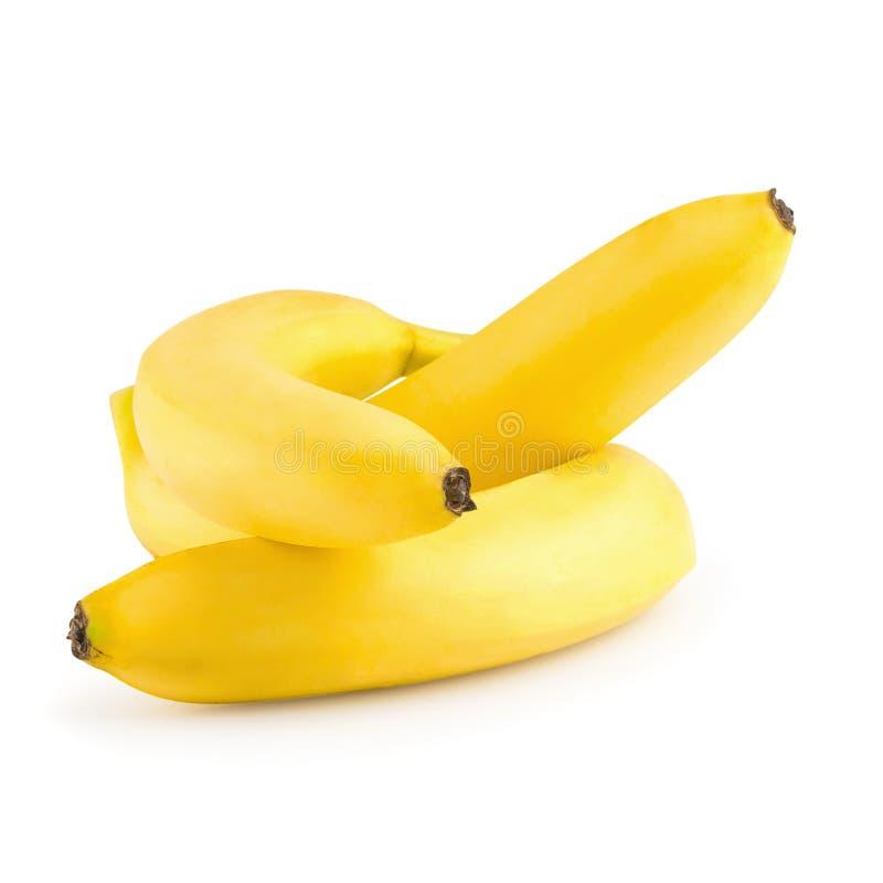 Пук бананов изолированных на белой предпосылке стоковые фотографии rf
