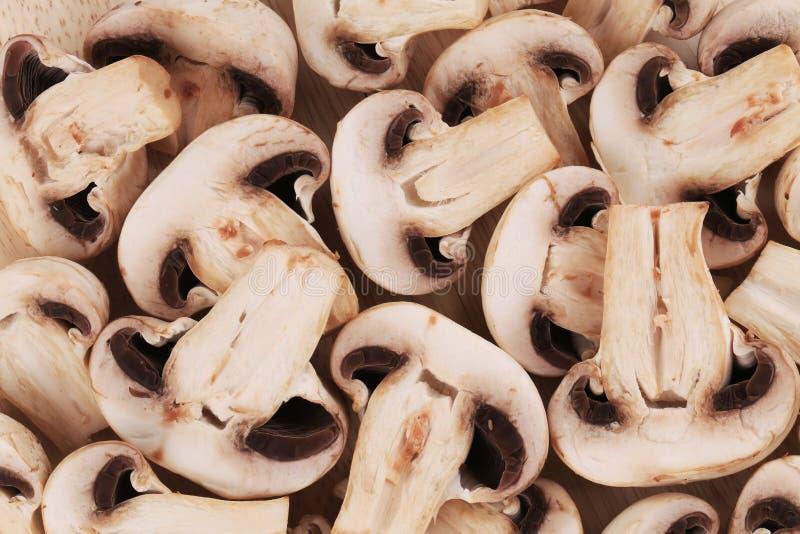 Пук белых грибов закрывает вверх стоковое фото rf