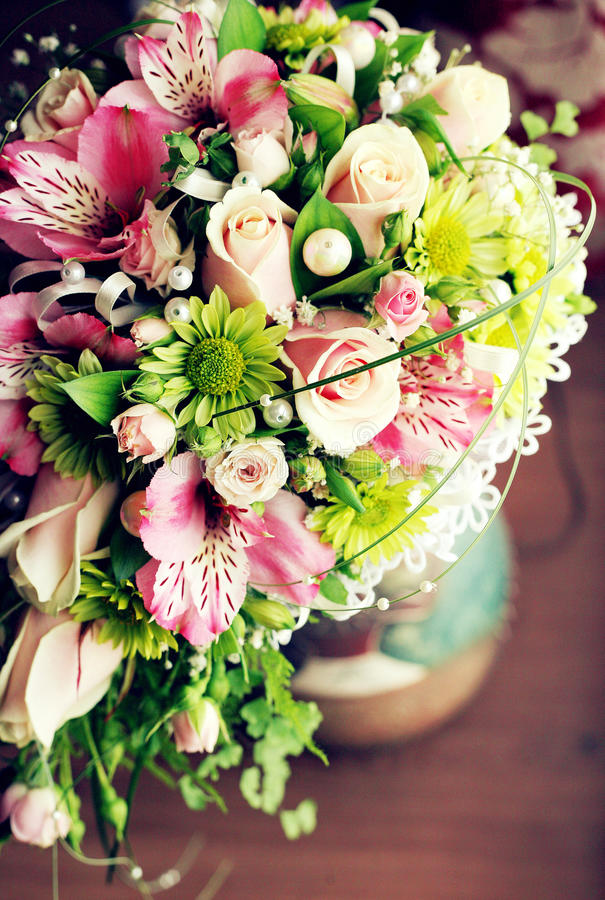 Пук букета свадьбы цветков стоковое изображение rf