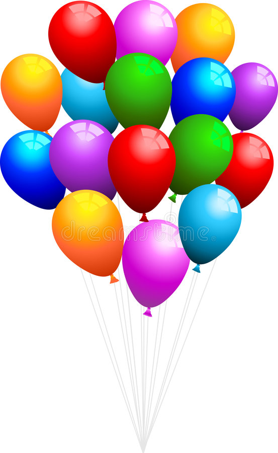 пук воздушных шаров иллюстрация штока