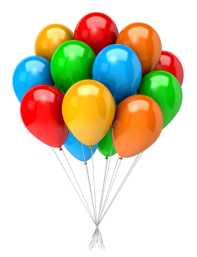 Пук воздушных шаров бесплатная иллюстрация