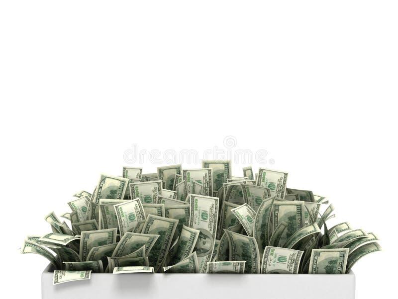 Пук денег на белой предпосылке иллюстрация вектора