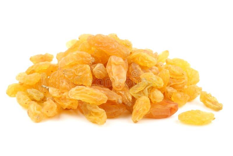 Пук золотых желтых изюминок стоковое изображение rf