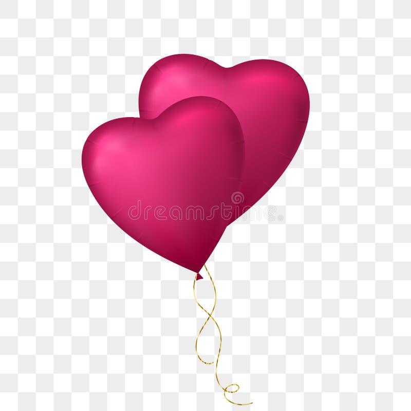 Пук летая воздушного шара сердца форменного бесплатная иллюстрация