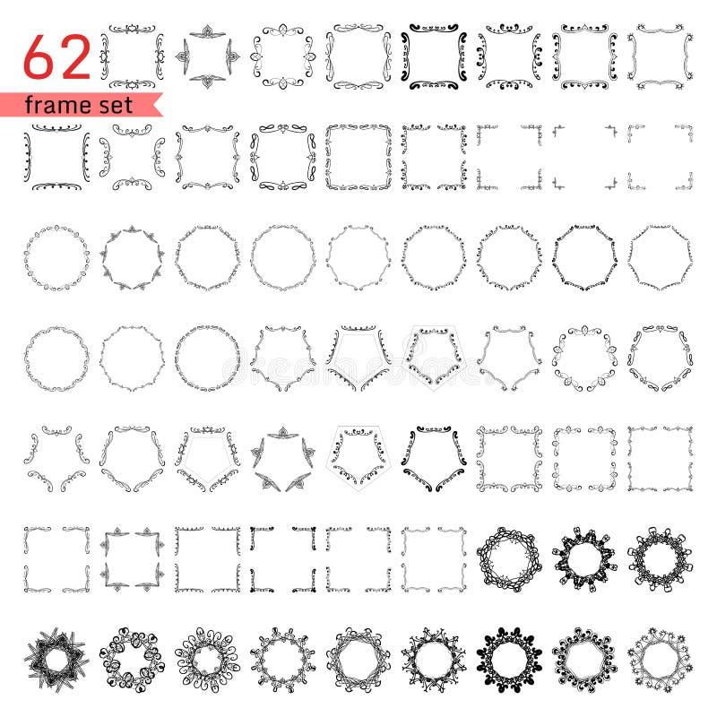 Пук простых и элегантных элементов дизайна иллюстрация штока