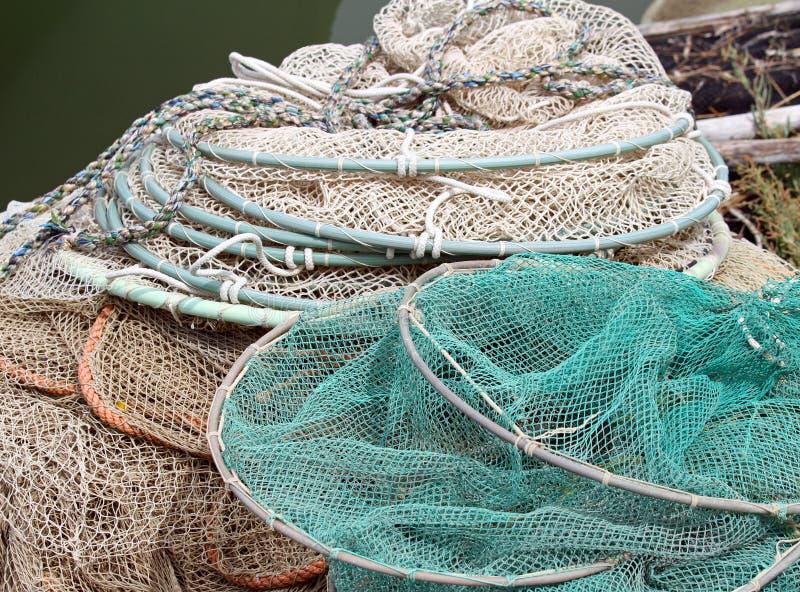 Пук рыболовных сетей рыболовов стоковые изображения