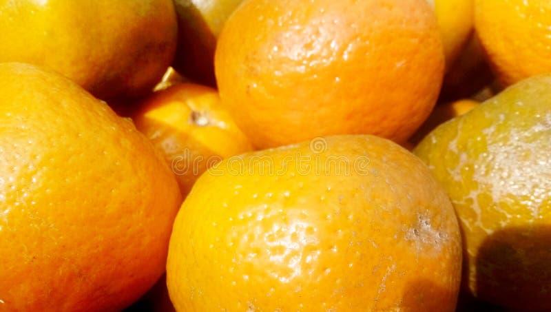 Пук свежих апельсинов на рынке, стоковые изображения rf