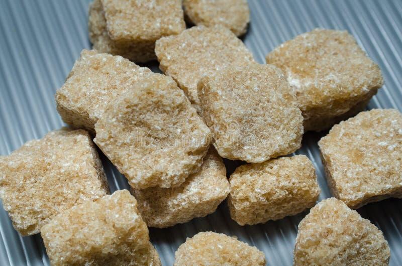 Пук тростникового сахара кубов коричневого стоковое фото