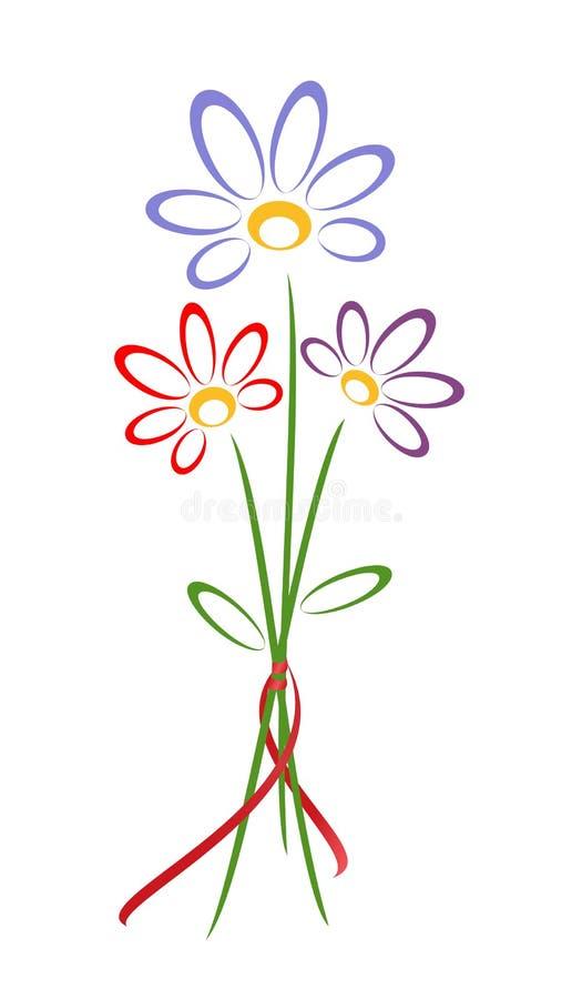 пук цветет малое иллюстрация вектора