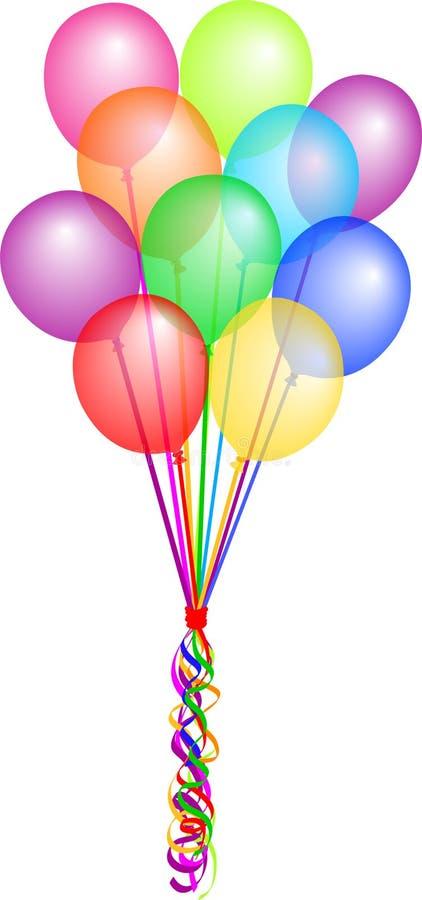 пук eps воздушных шаров иллюстрация вектора