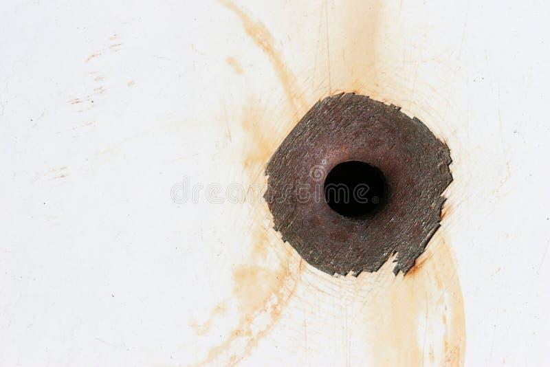 пулевое отверстие стоковая фотография