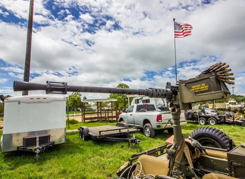 Пулемет 50 калибров на местном событии стоковые изображения rf