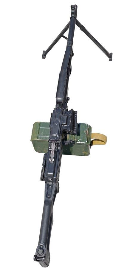 Пулемет на белизне стоковое фото rf