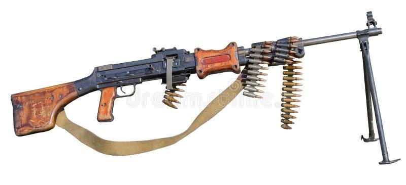 Пулемет RPD на белизне стоковые фото
