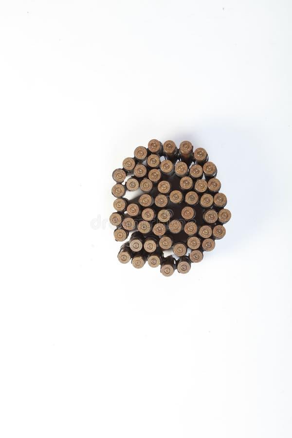 Пули пулемета, ударенные боеприпасы огня стоковое фото rf