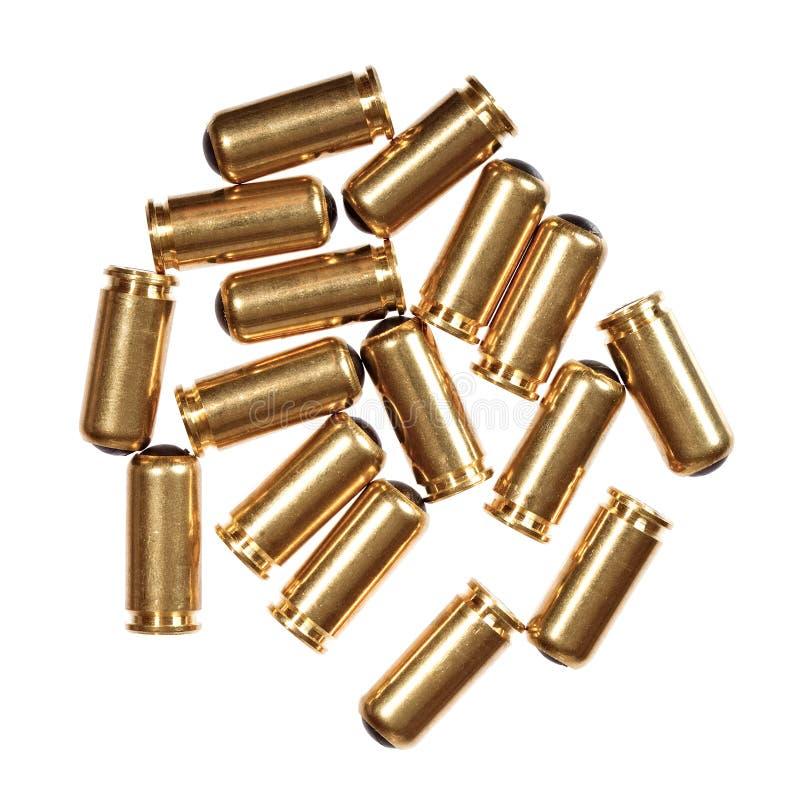 пули 9mm изолированные на белизне стоковая фотография rf