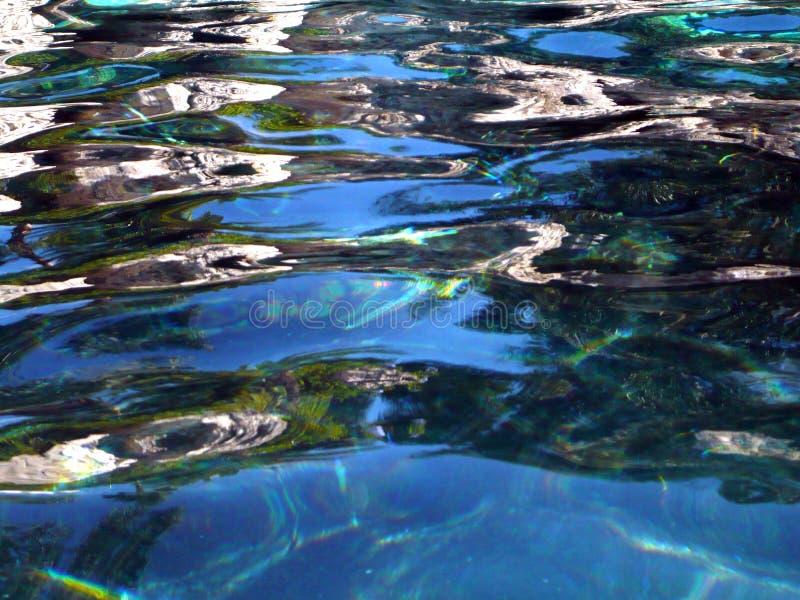 Пульсации в аквариуме стоковое фото