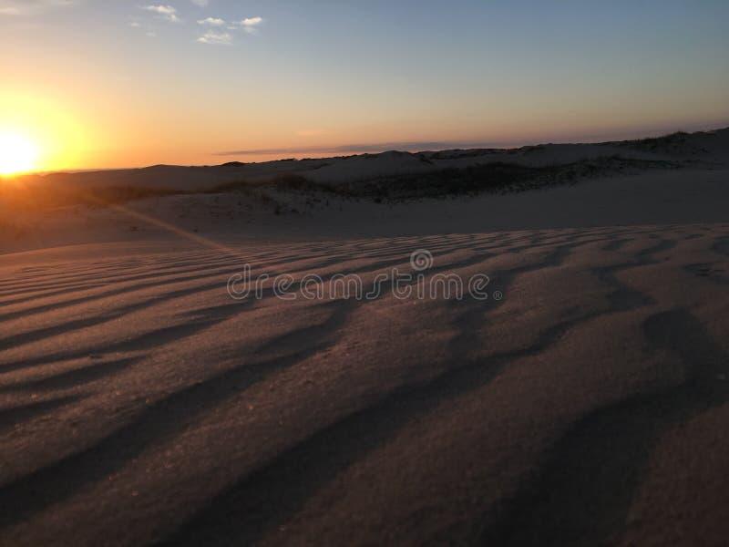 Пульсации в песке стоковое изображение rf