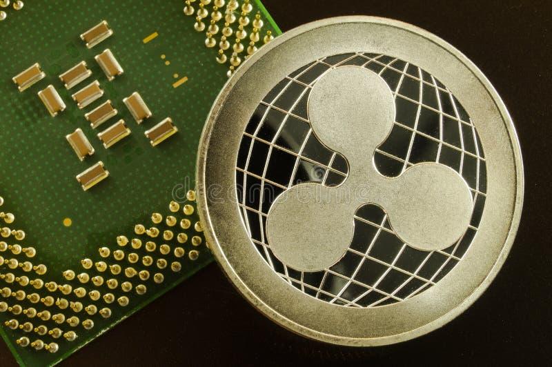 Пульсация современный путь обмена и эта секретная валюта удобные середины оплаты в финансовом стоковые фото