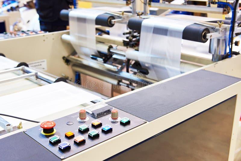 Пульт управления полиэтиленовых пакетов машины стоковые фотографии rf
