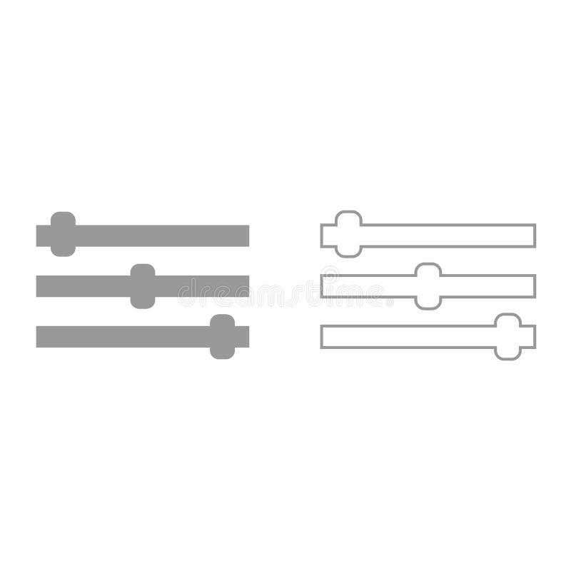 Пульт управления черный значок иллюстрация штока