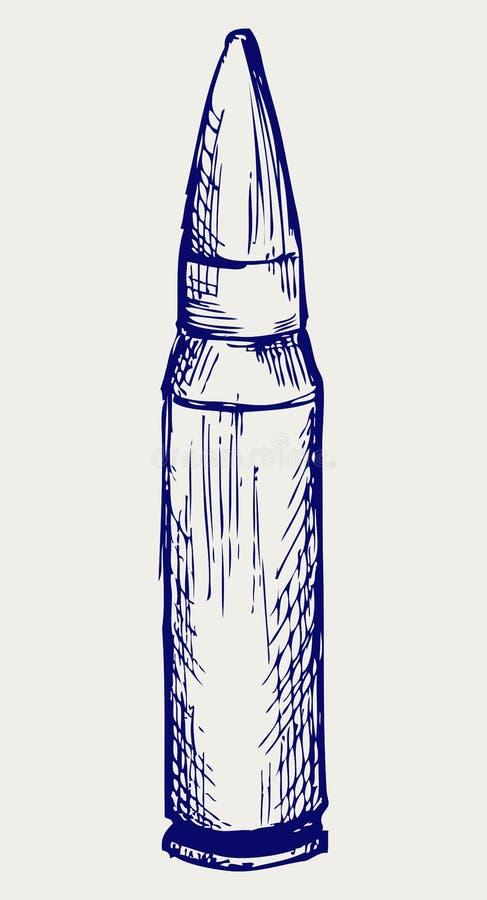 Пуля. Тип Doodle иллюстрация штока