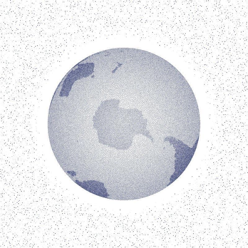Пунктированный вектором глобус мира стилизованный Южный полюс бесплатная иллюстрация