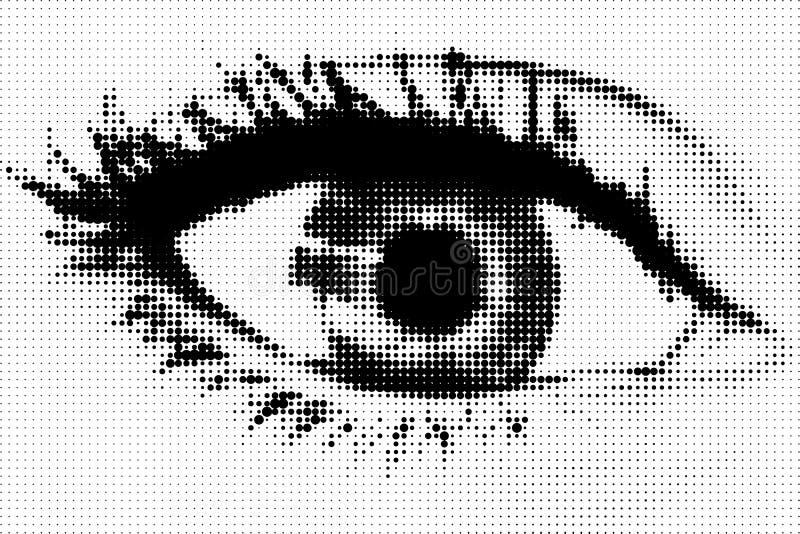 пункты глаза стоковые фотографии rf