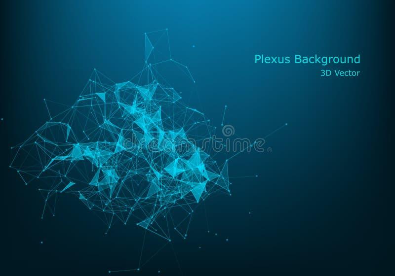 Пункты конспекта графические состоя из, линии и соединение, технология интернета Большая концепция данных бесплатная иллюстрация