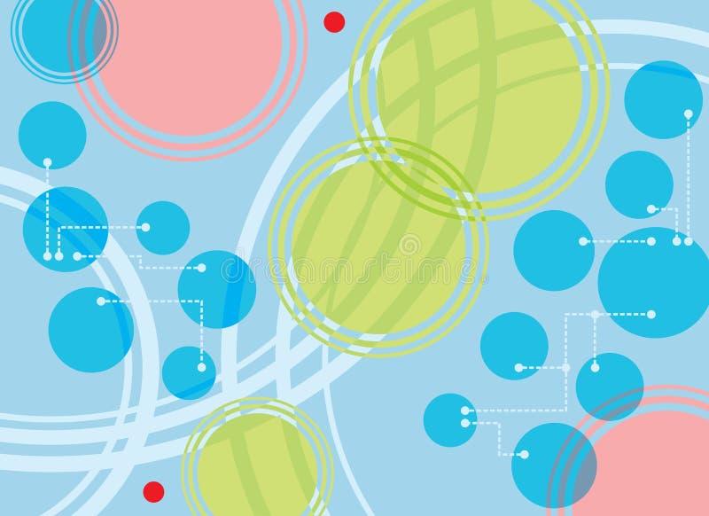 пункты поставленные точки кругами стоковое изображение