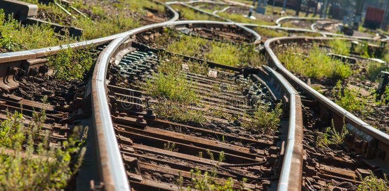 Пункты следа железных дорог стоковое фото rf