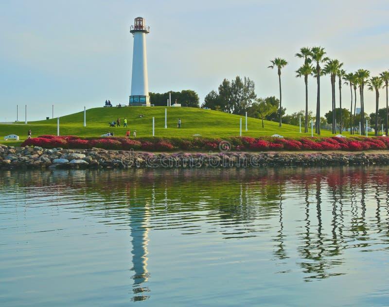 Пункт Лонг-Бич Калифорния маяка стоковое фото